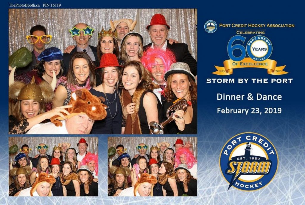 Toronto's Photo booth with at Port Credit Hockey Dinner Dance 2019