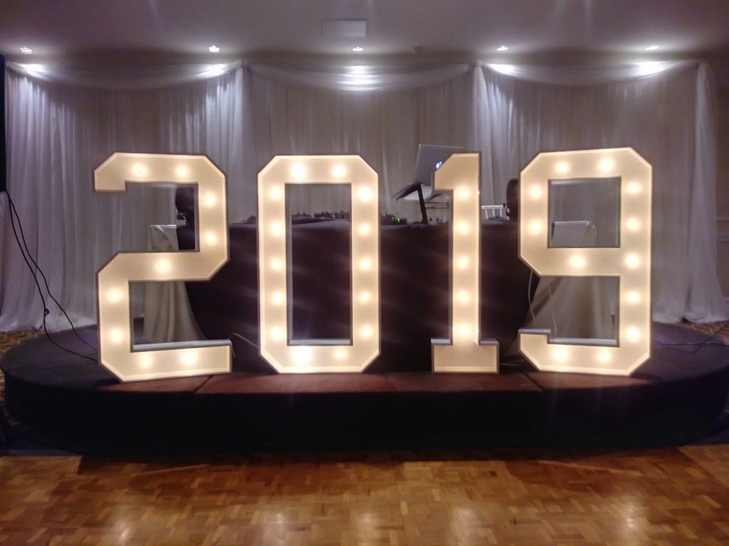 Marquee Letters / Numbers 2019